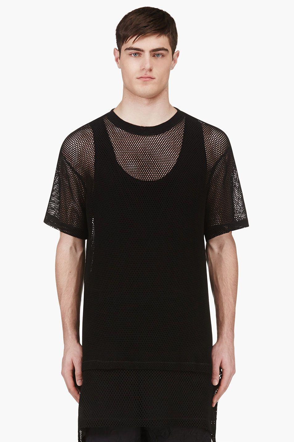 Ktz Black Oversized Mesh T Shirt For Men Ssense
