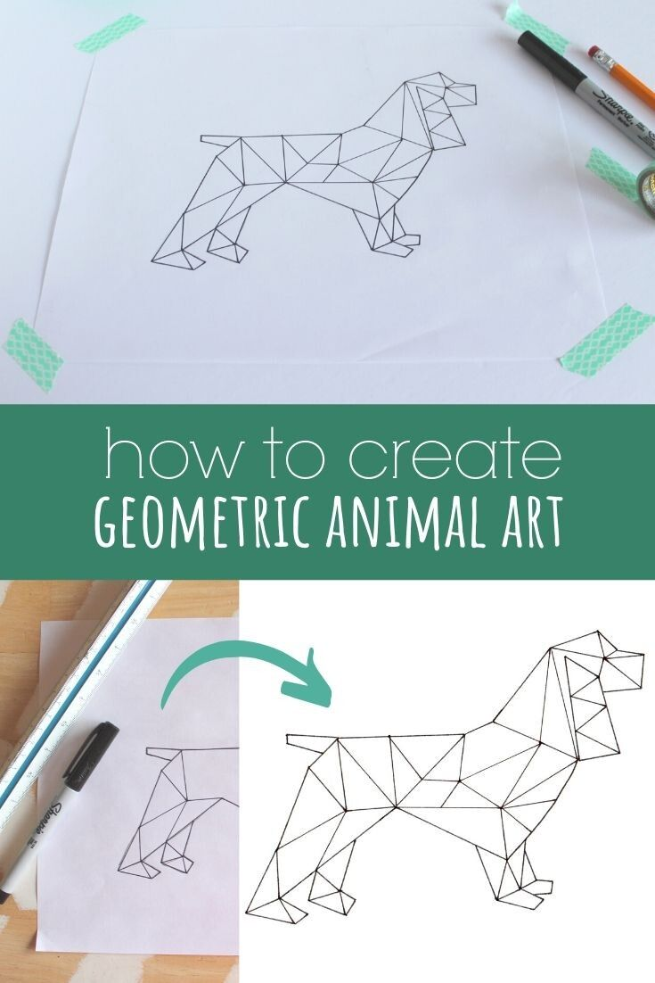 Photo of How to Create Geometric Animal Art » Homemade Heather