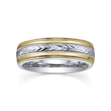 BEST VALUE Womens TwoTone Gold Wedding Band found at JCPenney