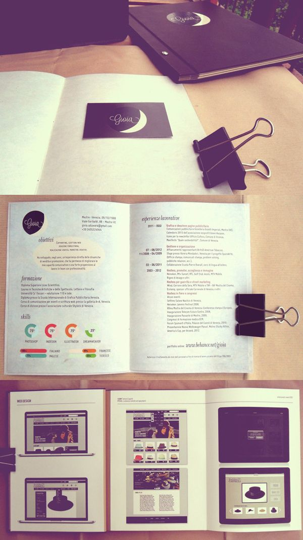 Printed Graphic Design Portfolio Example   Gioia Calzavara  Http://www.companyfolders.