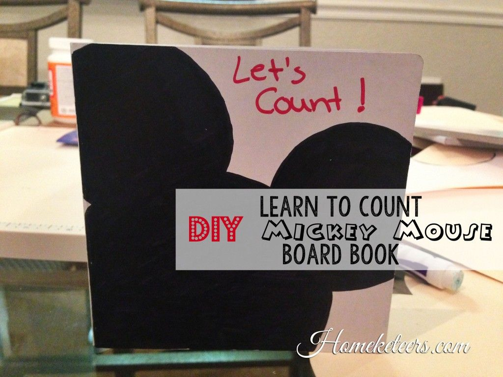 Learn To Count Diy Mickey Mouse Board Book