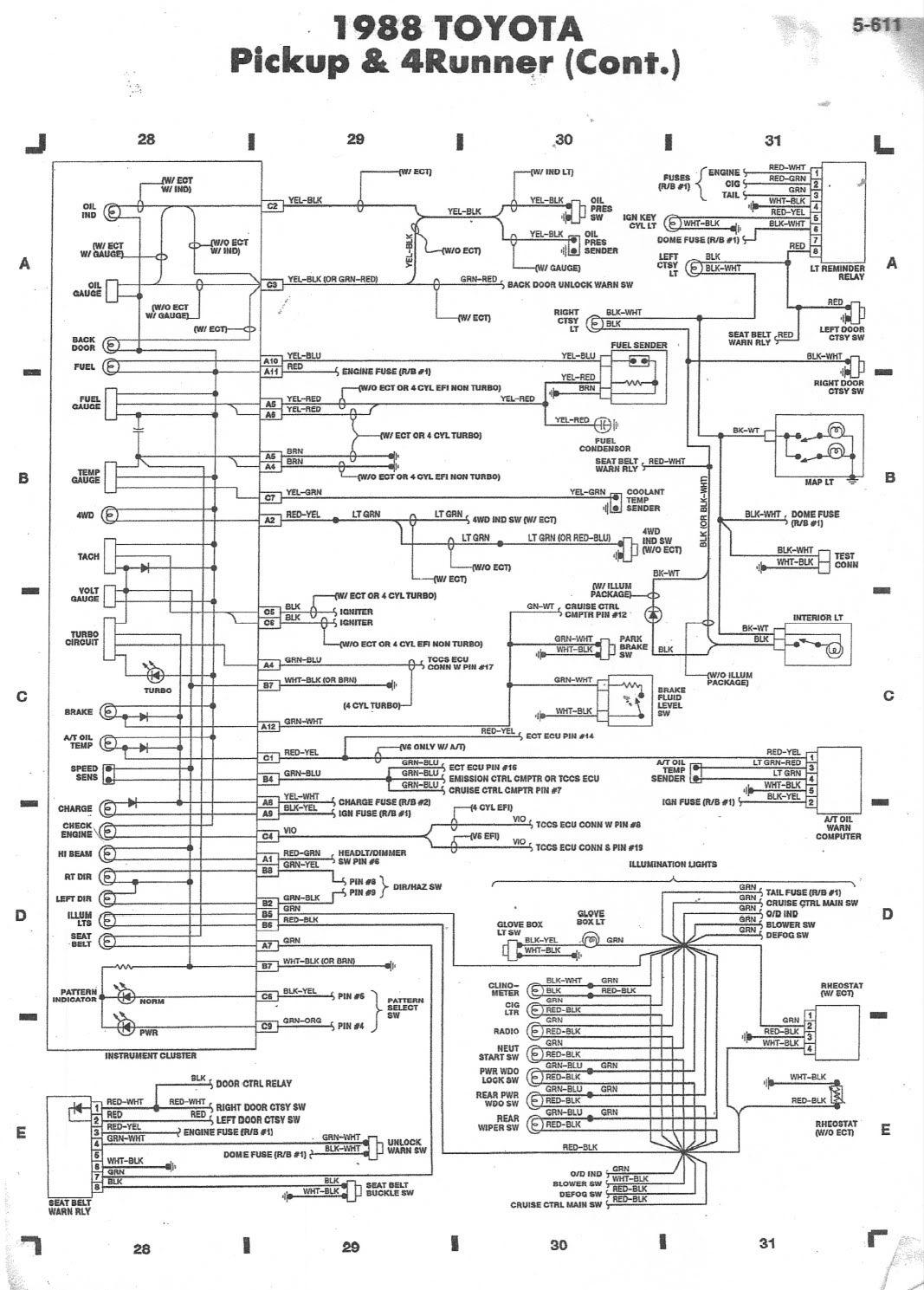 1989 toyota pickup schematic automotive wiring diagram u2022 rh wiringblog today