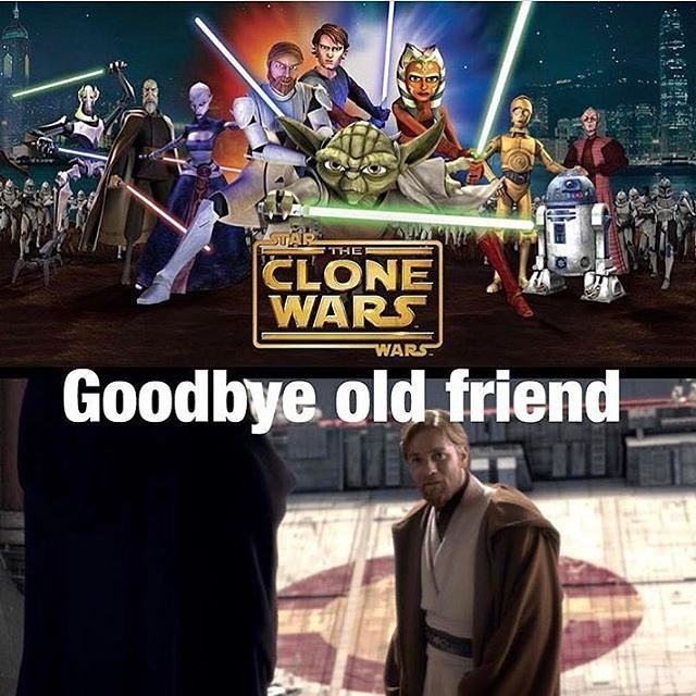 "1,177 Likes, 53 Comments - Star Wars General (@starwars_general) on Instagram: ""Today The Clone Wars leaves Netflix a sad day indeed lol."""