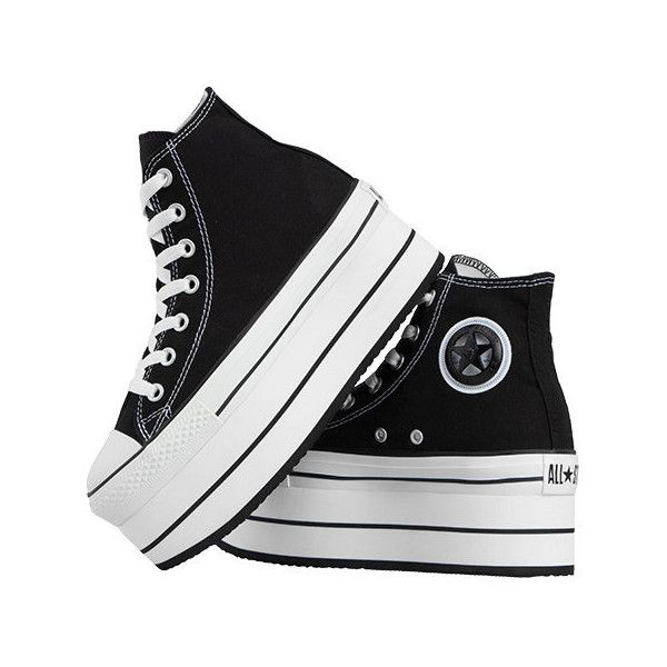 Klack Smith custom platform converse - BLACK PLATFORM (2.566.800 VND) ❤ liked on Polyvore featuring shoes, converse, sneakers, kohl shoes, converse shoes, toe cap shoes, black shoes and holiday shoes