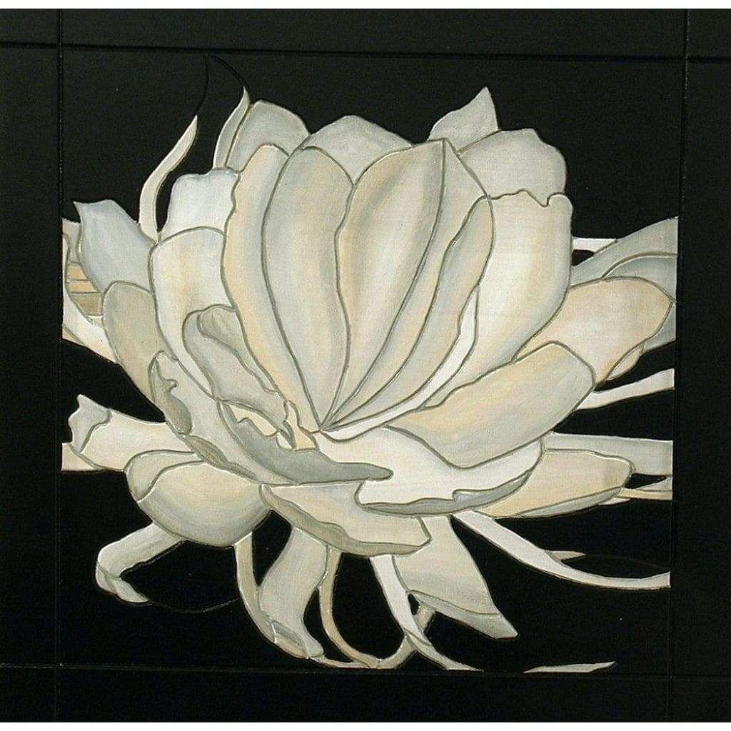 White flower wood wall decor wall art minimalist wall hanging