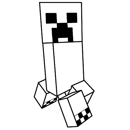 Le Creeper De Minecraft Coloriage Minecraft Minecraft Coloriage