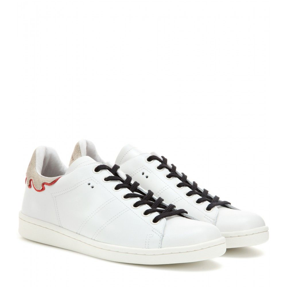 4d3334fc2 Isabel Marant - Étoile Bart leather sneakers - The retro sneaker is ...
