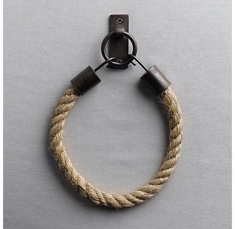 Would be a great towel ring in a powder room! Or Tie Back in Boys Room