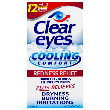 Clear Eyes Cooling Comfort Redness Relief Eye Drops 0 5 Fl Oz Walmart Com Itchy Eye Relief Clear Eyes Itchy Eyes