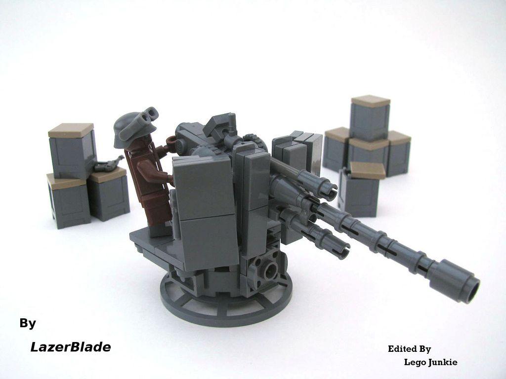 World War 2 German 2cm FLAK 38 Anti-Aircraft Gun WW2 made with real LEGO® bricks