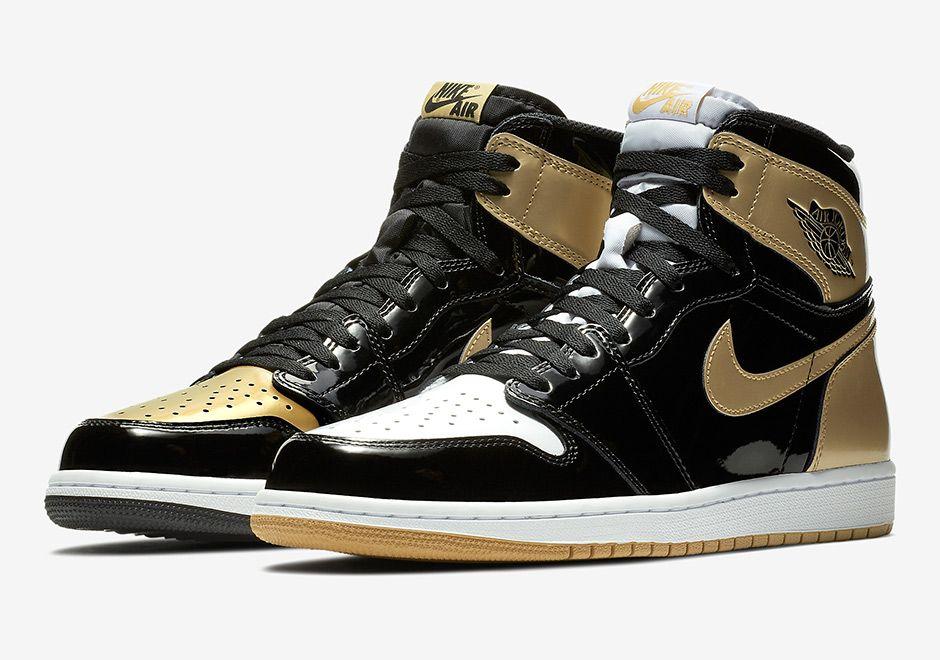 Air Jordan 1 Top 3 Black Gold 861428 001 Release Info What S