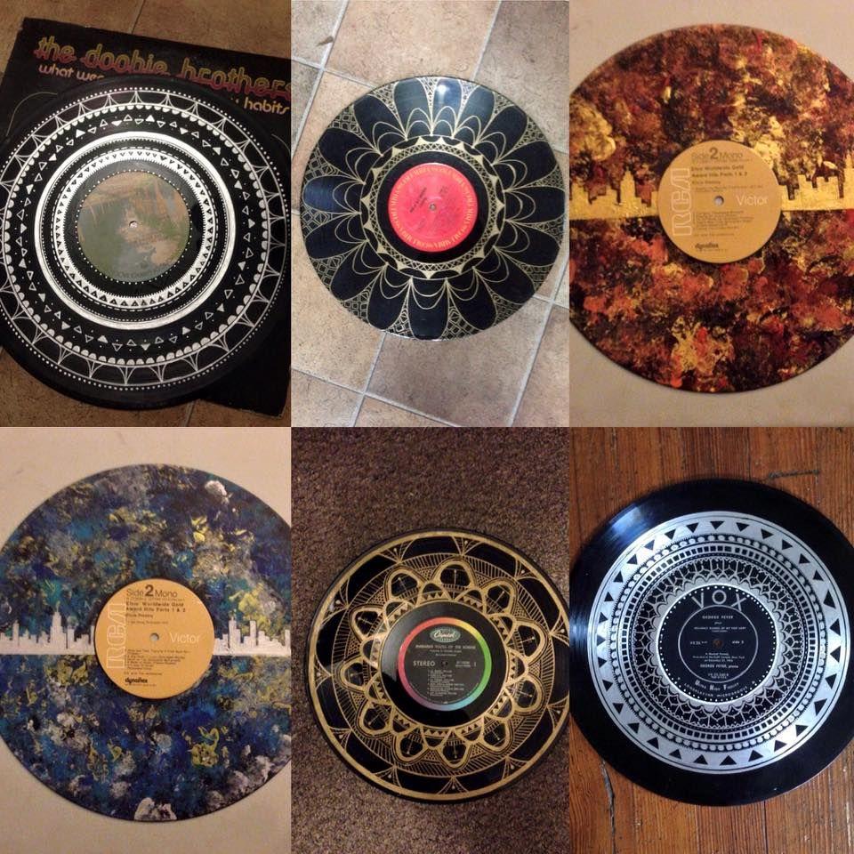 I Paint Mandalas On Vinyl Records Vinyl Record Crafts Record