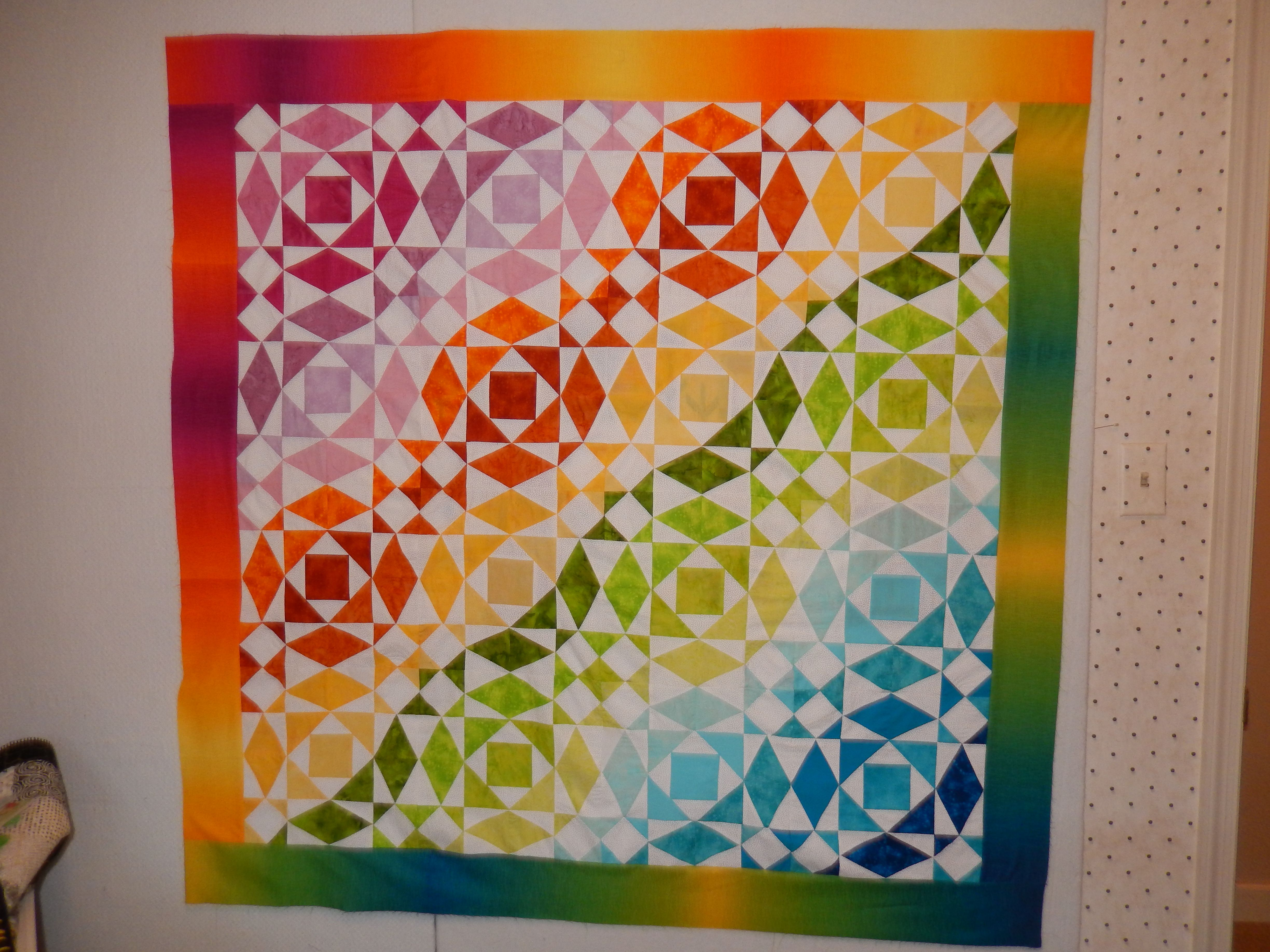 Raffle quilt made by guild members