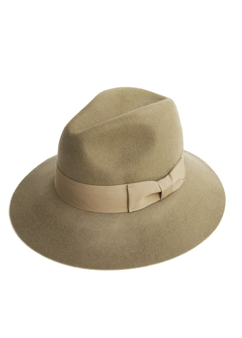 Unisex Black Faux Suede Fedora Trilby  Hat with Wide Brim and Belt Band