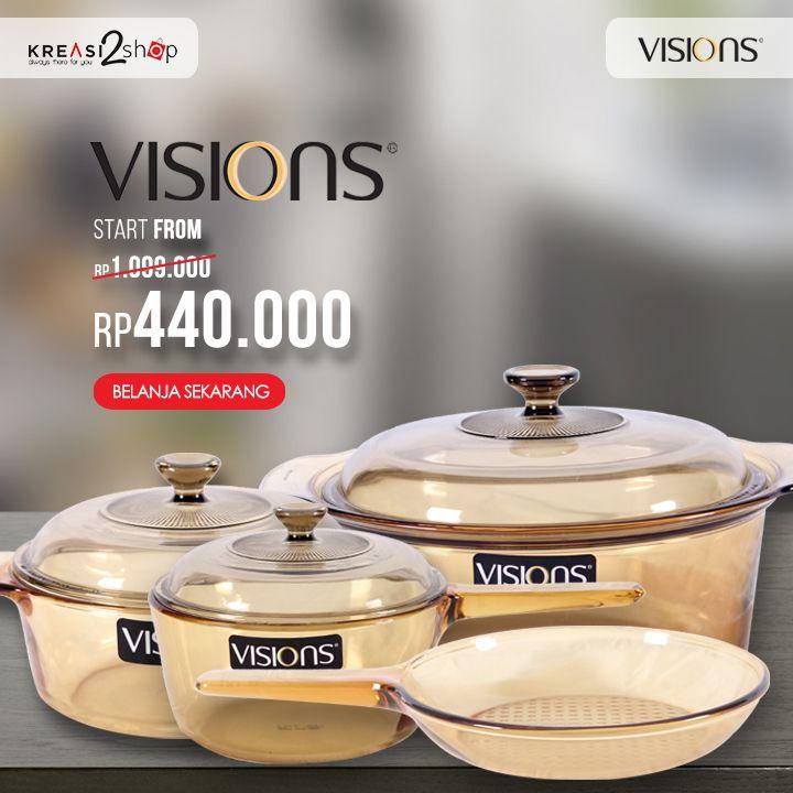Siang KreasiLovers ! Mari belanja kebutuhan rumah tangga yang di perlukan untuk memasak. Dapatkan harga special VISION sekarang juga > https://kreasi2shop.com/catalogsearch/result/?cat=&q=Visions