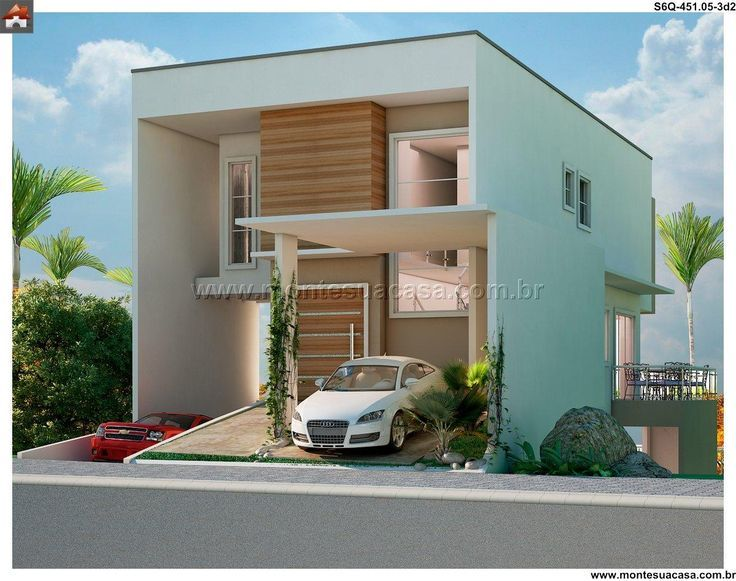 Projetos de sobrados com 6 metros de frente sobrados for Fachadas de frente de casas