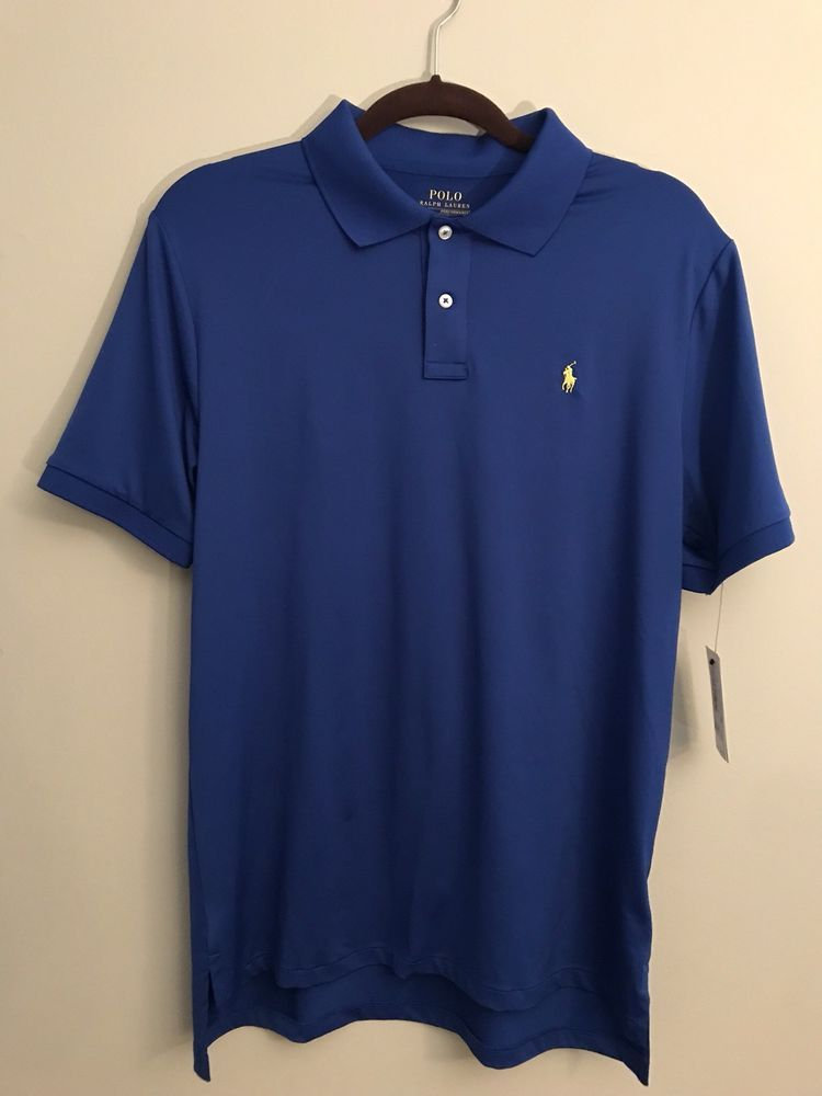 e43e203e9 Polo Ralph Lauren Performance Boys Polo Shirt Size XL Royal Blue Yellow  Logo #PoloRalphLauren