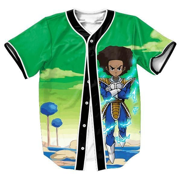 be05bda2a Urban Huey Super Saiyan Jersey Dragon Ball Z Baseball Jersey ...