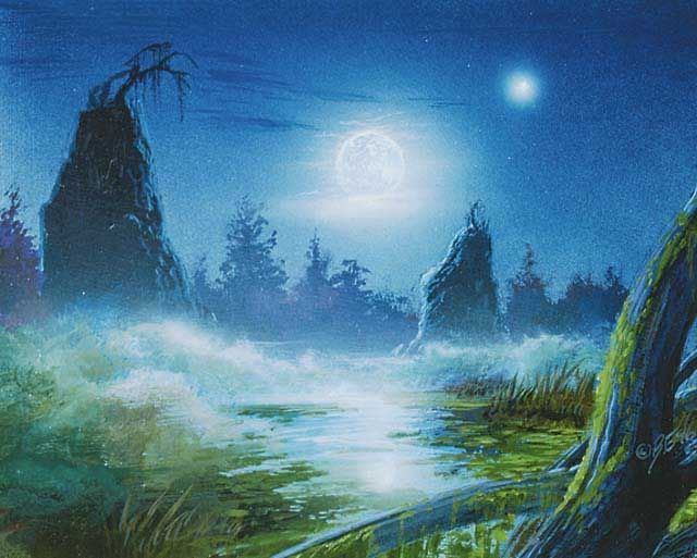 Bob Eggleton - Swamp - Mirage, 8th Edition, 9th Edition - 640x513 pixels