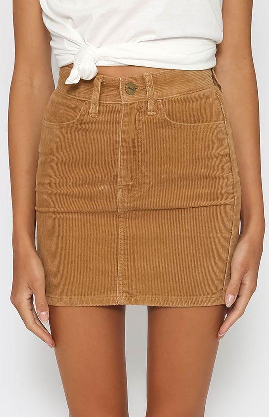 Chevy Denim Skirt - Tan Cord from peppermayo.com | Denim ...