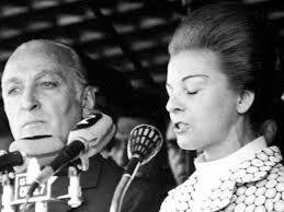 José López Rega y Isabel Perón