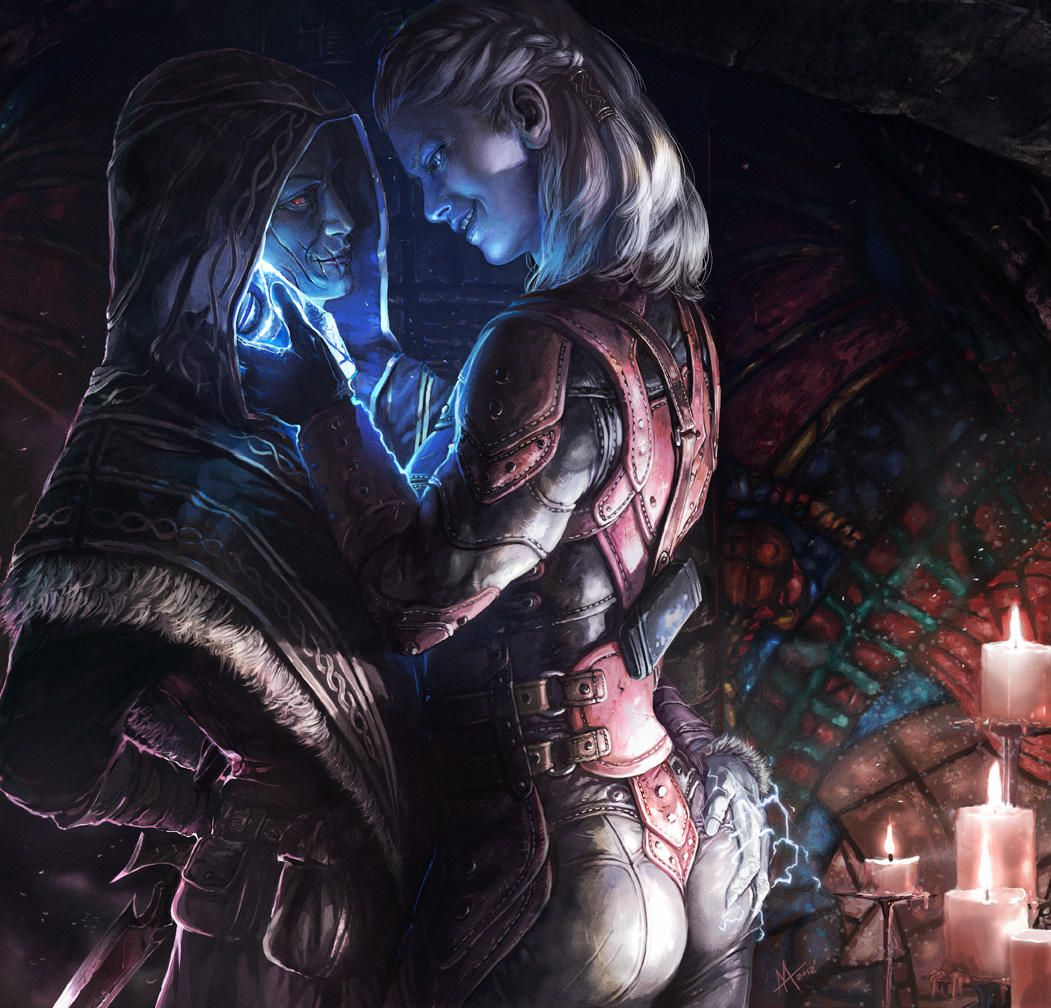 Skyrim - Astrid and the Dragonborn by onibox on DeviantArt