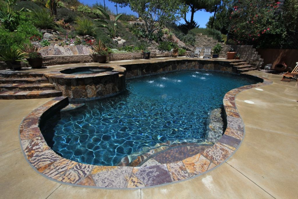 StoneScapes Midnight Blue with Abalone, CA (3) Backyard