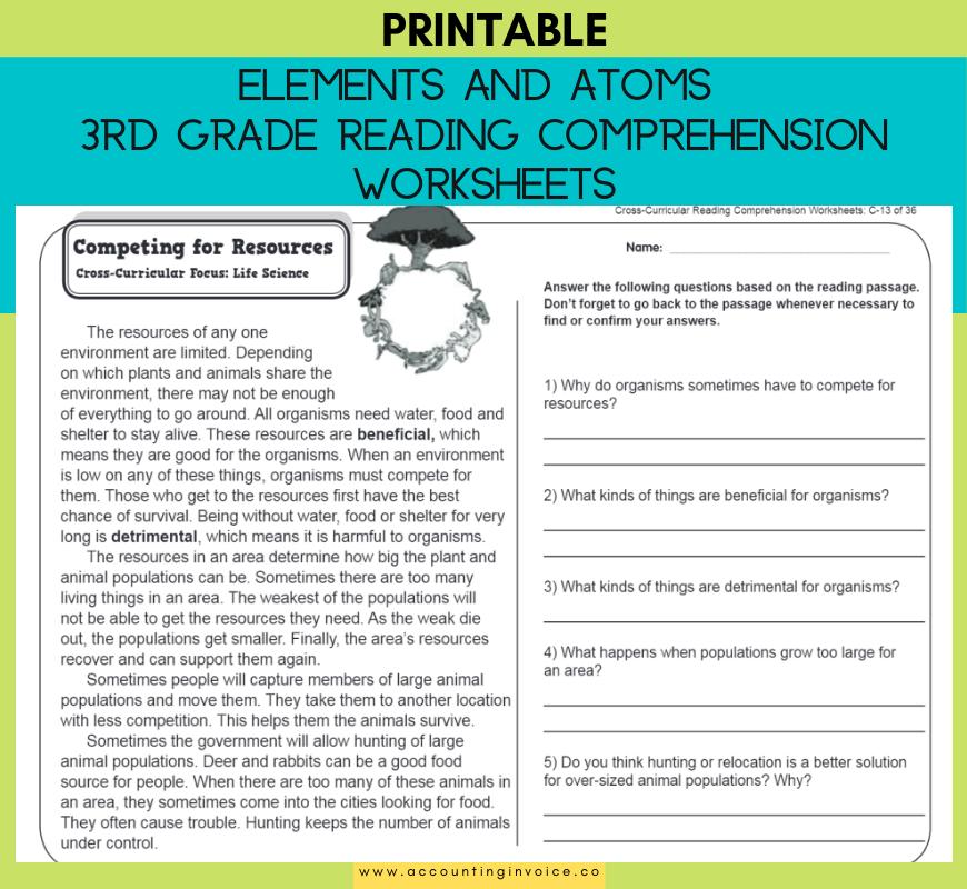 21 Reading Comprehension Worksheets for Grade 3 Pdf Ac
