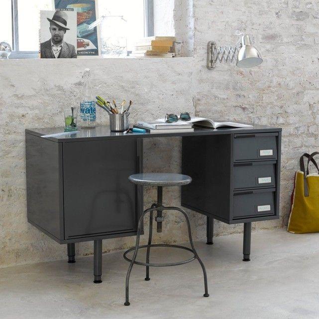 Le Bureau En Metal Laque Hiba Quand Elegance Rima Avec Praticite Bureau Metal Meuble Rangement Bureau Meuble Maison
