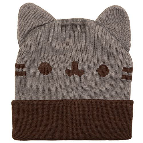 Pusheen Cuffed Beanie With Ears Officially Licensed Pusheen Apparel Acrylic    Soft And Comfortable Cat Ears On Top Of The Beanie Cuffed To Keep Your  Ears ...