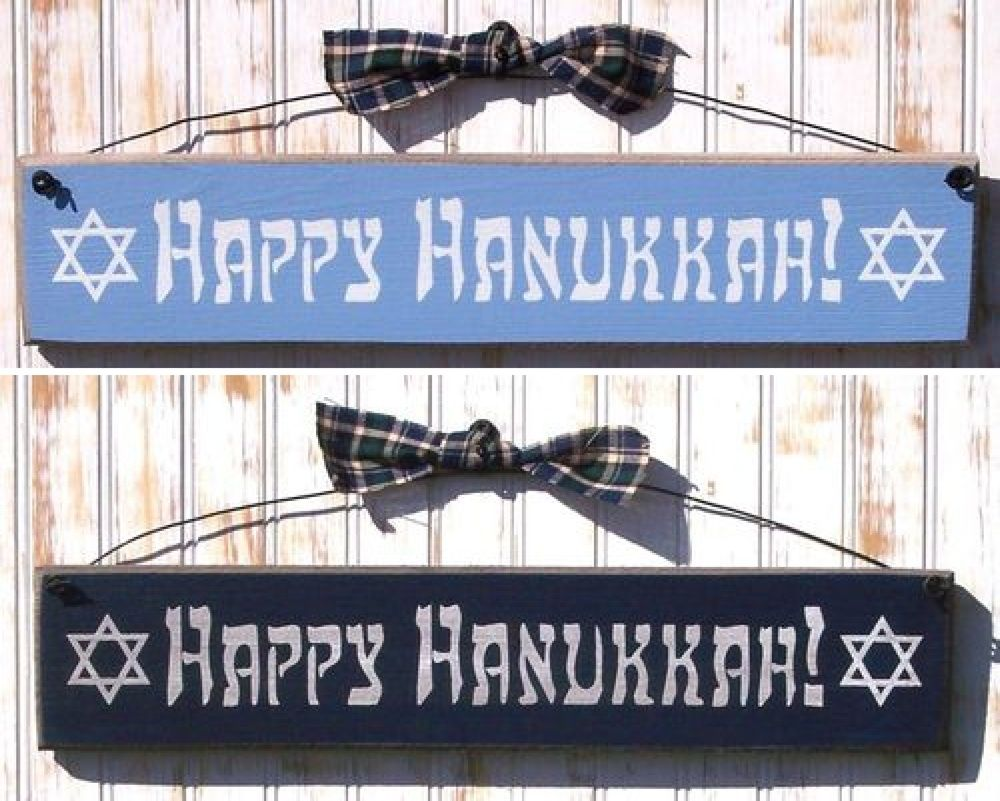 Happy Hanukkah Sign - Jewish Holiday Decorations ...