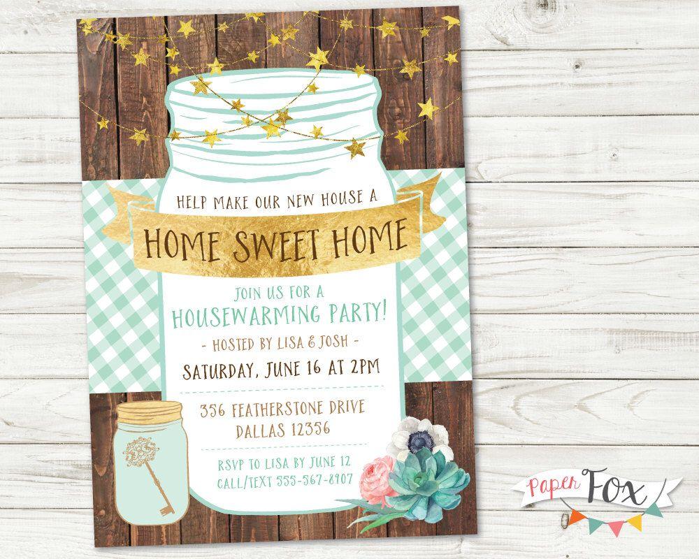 Housewarming invitation, Housewarming Party, Housewarming party ...