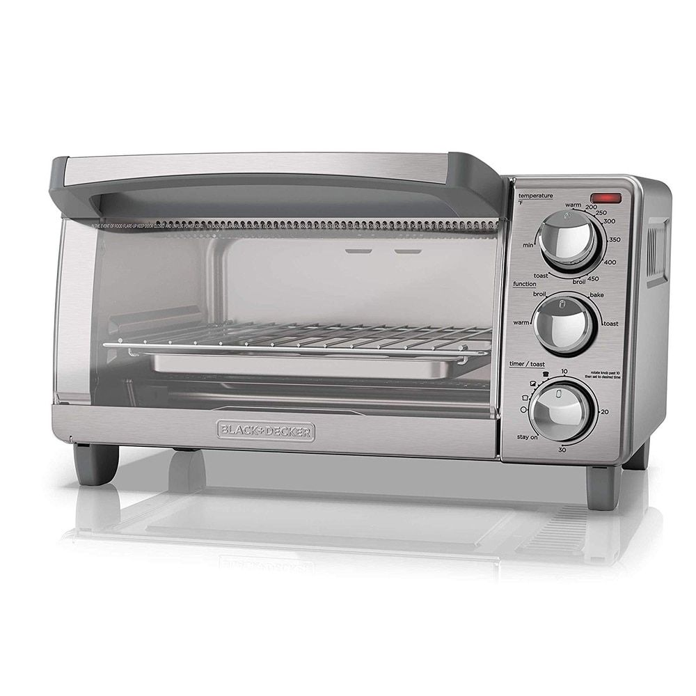 Black Decker To1760ss 4 Slice Toaster Oven Stainless Steel With