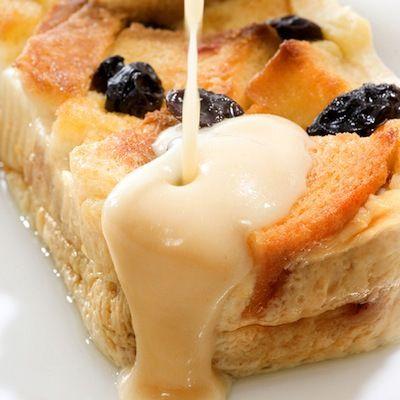 Bread Pudding With Vanilla Cream Sauce Cream Sauce Recipes Peach Bread Desserts