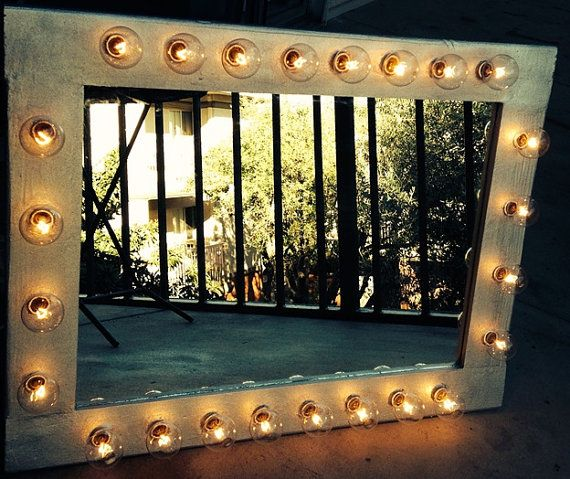 Custom Illuminated Make Up Mirror Table Top Version On Etsy 125 00 Mirror Table Beauty Room Makeup Mirror