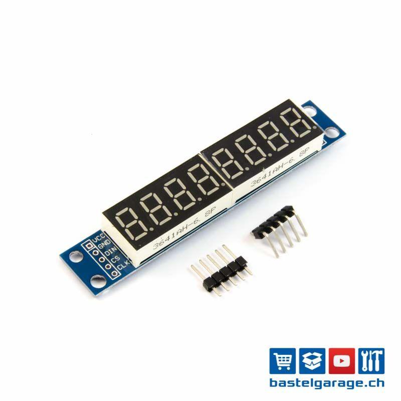 7 Segment 8 Bits Max7219 Digital Led Display Arduino Projekte Arduino Danke