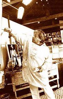 """""""Mi pintura es para herir,para arañar y golpear en el corazón de las gentes."""" Estas palabras de Guayasamin definen lo que en su obra es una constante: ladefensa de los derechos humanos; golpear en las consciencias ; retratar con rabia unsistema que tiene como único dios el dinero y como finla explotación y no la felicidad del hombre."""