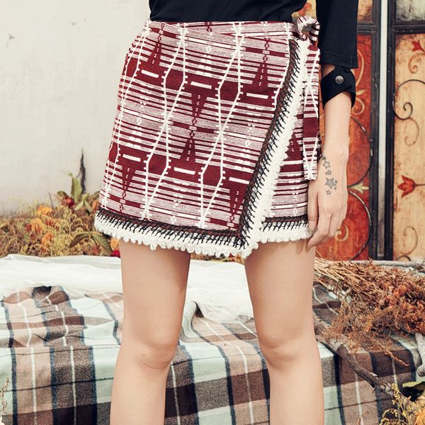 Winter beatles bohemian skirt