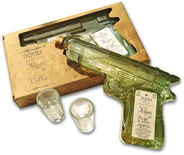 Hijos De Villa Tequila Is Glass Revolver Filled With