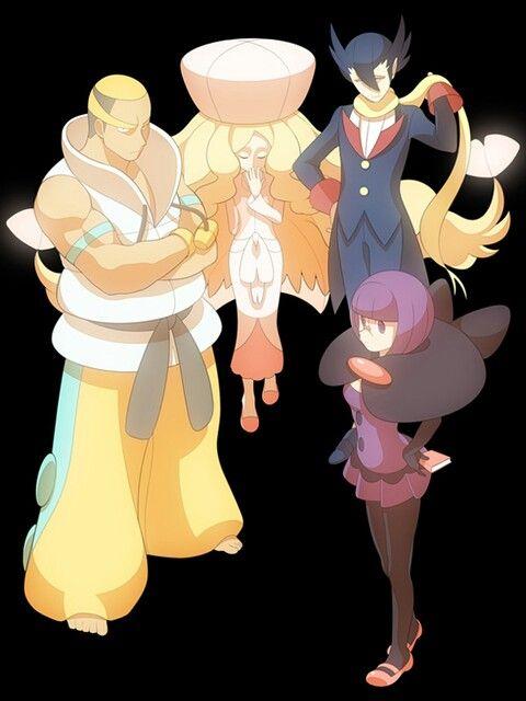 Elite Four Unova Pokemon Art Cool Pokemon Art Memes