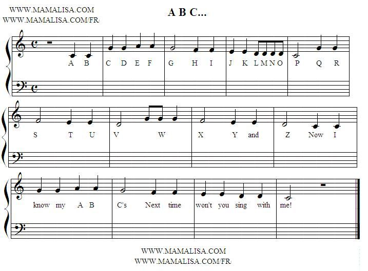 Abc Sheet Music Piano Music Sheet Music Piano Music Easy