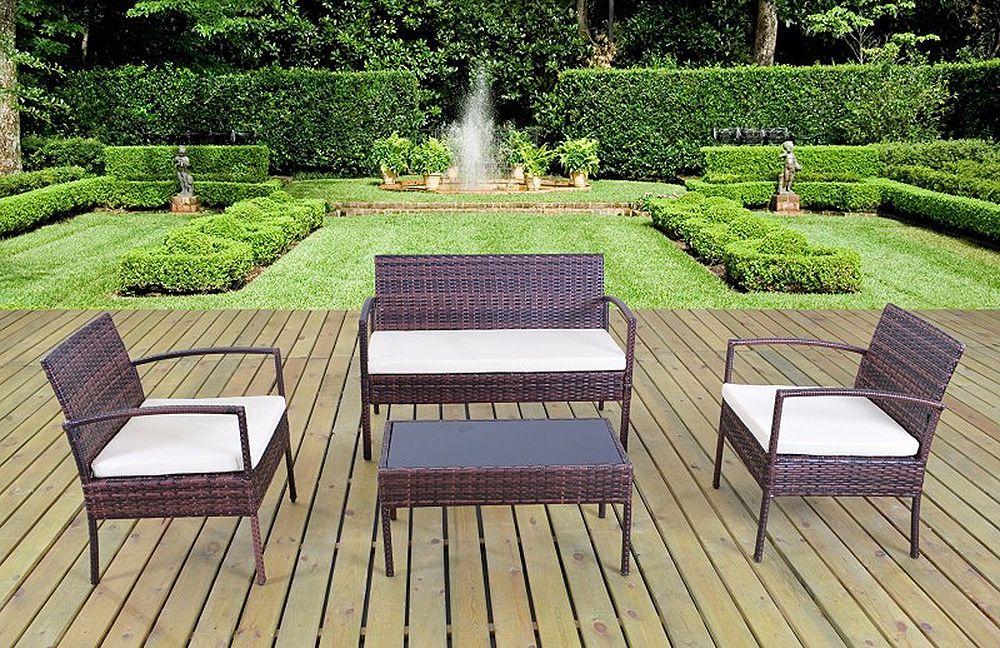 50 *) 1PLUS 7tlg Polyrattan Gartenmöbel Loungeset Rattan Möbel - gartenmobel rattan lounge set