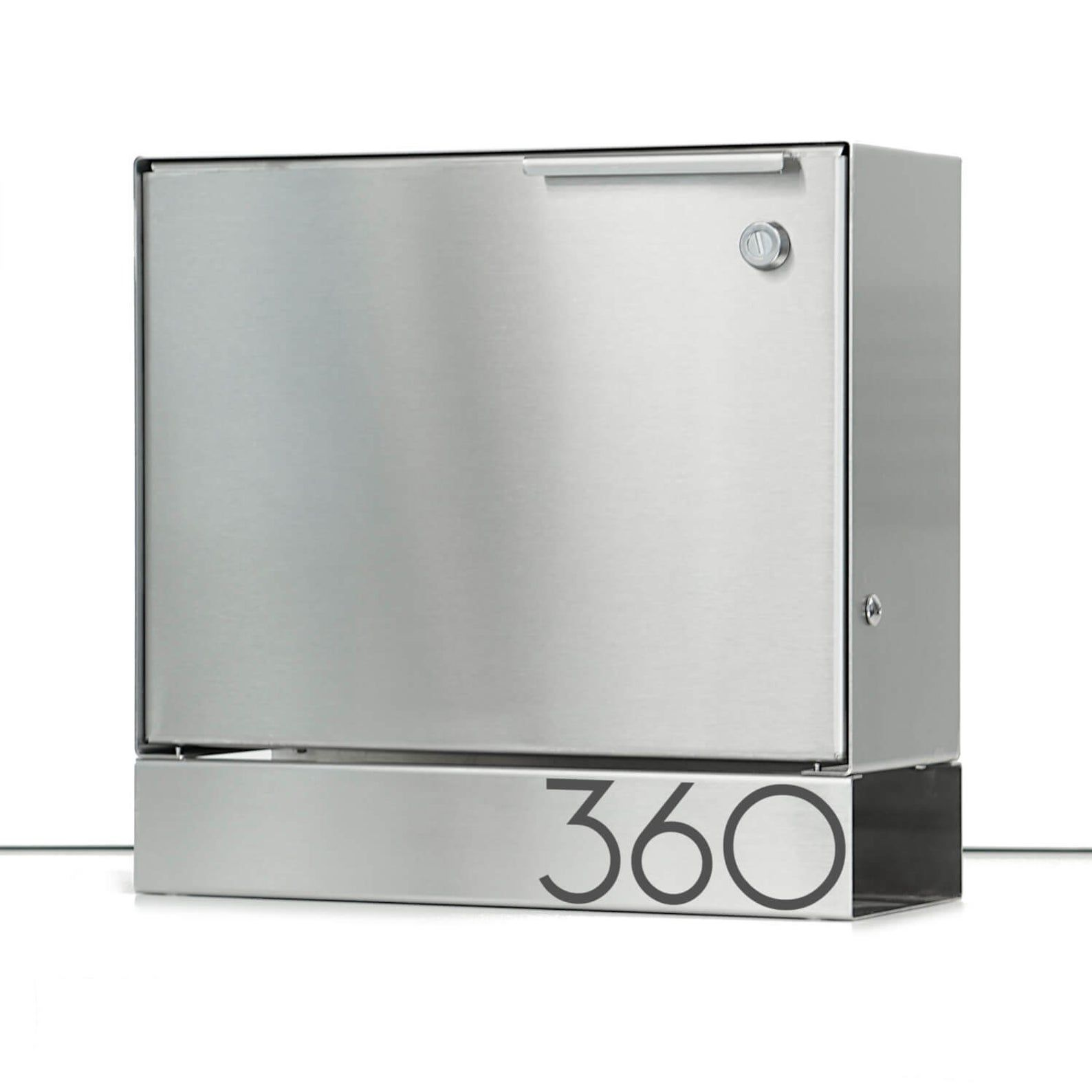 Larger Modern Mailbox Stainless Steel Design Large Wall Etsy