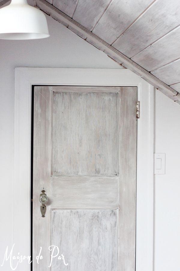 How To Whitewash Wood Distressed Doors Whitewash Wood Diy Door