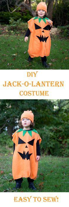 Diy Kid S Jack O Lantern Costume Easy To Sew Diy Halloweencostume Jack O Lantern Costume Easy Diy Costumes Diy Costumes Kids