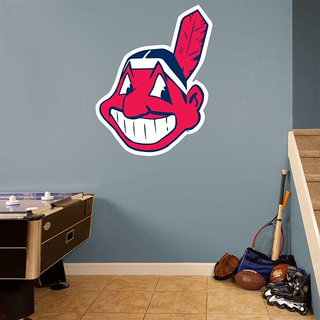 Baseball team logo Cleveland Indians MBL Wall Decal for Home Decoration