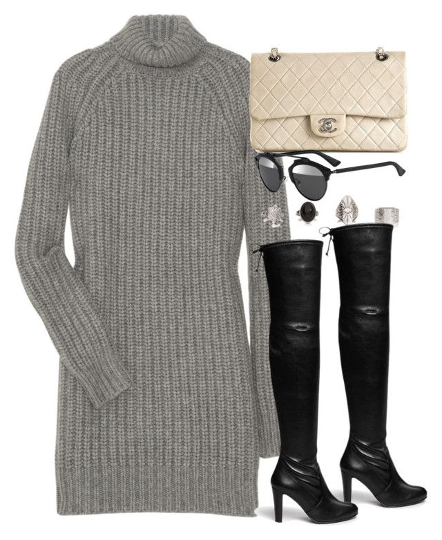 """Style #9378"" by vany-alvarado ❤ liked on Polyvore featuring Michael Kors, Chanel, Stuart Weitzman and Christian Dior"