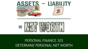 personal finance 101 determine your personal net worth lesson