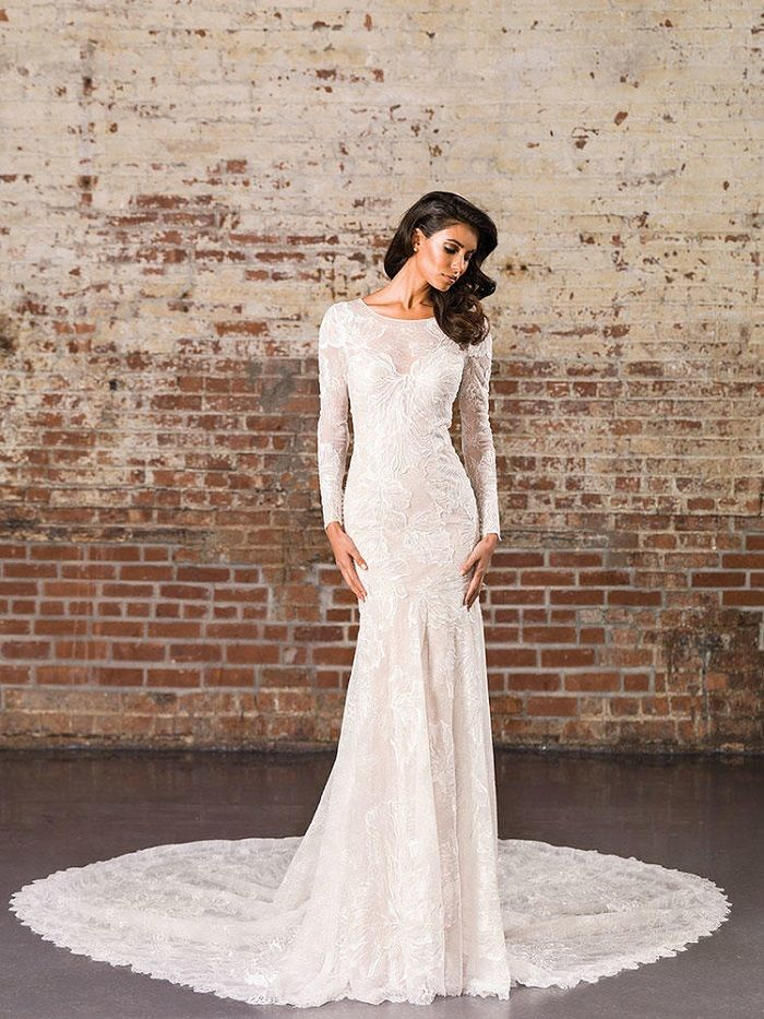 Justin Alexander Signature Spring 2017 Wedding Dresses | Long Sleeve Lace Fit and Flare Gown | itakeyou.co.uk #weddingdress #weddingdresses #ballgown #wedding #ivoryweddingdress #ivory #bride #bridalgown #justinalexander