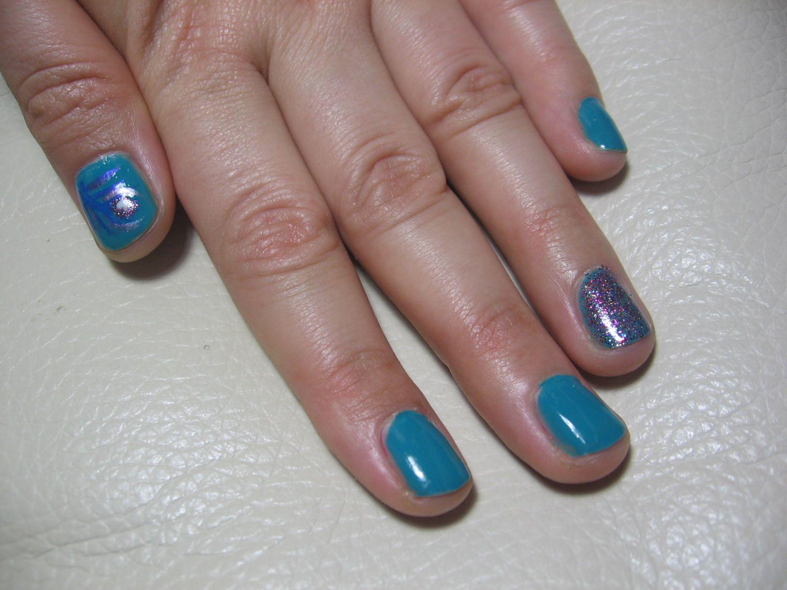 Glitter Peacock Nail Art Opi Fly Sally Hansen Rockstar Pink Nail